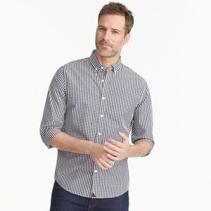 UNTUCKit Blue Striped Gingham Long Sleeves Shirt